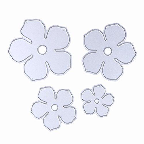 Demiawaking Flower Design Fustelle Stencil per Scrapbooking fai da te album biglietti per goffratura modello quattro stili 04