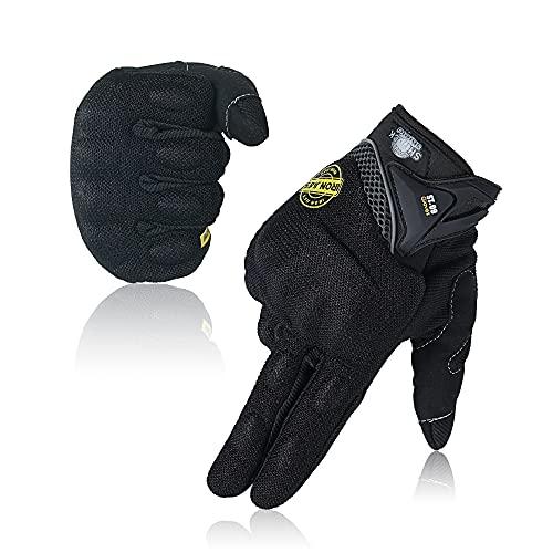 Motorradhandschuh Herren Motorradhandschuhe atmungsaktive Vollfinger-Motorradhandschuhe Touchscreen Knöchelhandschuhe Sommer