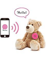 Pechat(ペチャット) ピンク ぬいぐるみをおしゃべりにするボタン型スピーカー【英語にも対応】