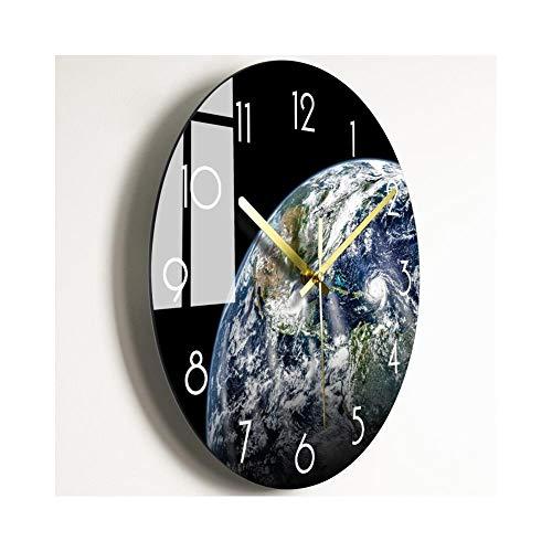 XMBT Digitalanzeige Mute Luminous Wecker-Wanduhr Nummer Silent Quartz Dekorative Uhren Moderne runde Uhren Atemberaubende römische Ziffernuhr Schuluhr,Installationsize:40cm