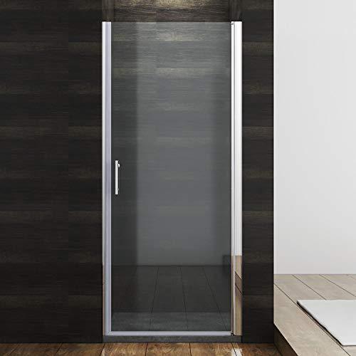 SONNI Duschkabine Duschtür Nischendrehtür 70 x 185 cm Nano Beschichtung Nischentür Schwingtür ESG Glas Dusche Glastür Dusche Pendeltür dusche Duschtrennwand