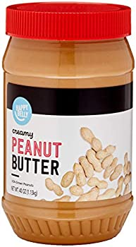 Amazon Brand Happy Belly Creamy Peanut Butter, 40 Ounce