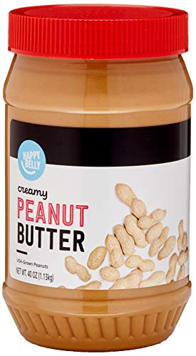 Amazon Brand - Happy Belly Creamy Peanut Butter, 40 Ounces