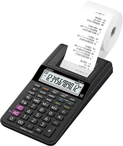Calculadora com Bobina, Casio, 63261, Preto
