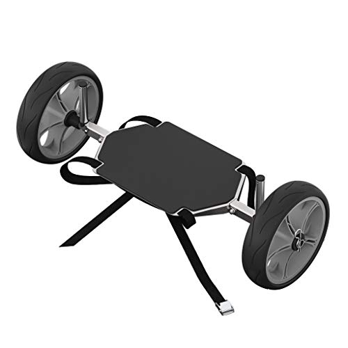 SUPROD SUP-Räder, Stand Up Paddle Board Wheels, Transport Wagen, UP261, Edelstahl, schwarz/grau