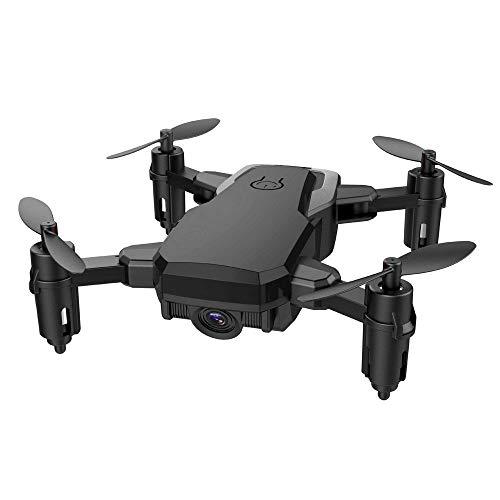 Styledress RC Helikopter Mini RC Drohne für Kinder Faltbarer RC Quadcopter mit Höhenhaltemodus Weihnachten Hubschrauber Spielzeug Ferngesteuert Kinder (one size, Schwarz)