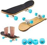 Fingerboard Finger Skateboards for Kids, Mini Maple Finger Board with Wooden Board, Professional Bearing and Wheels