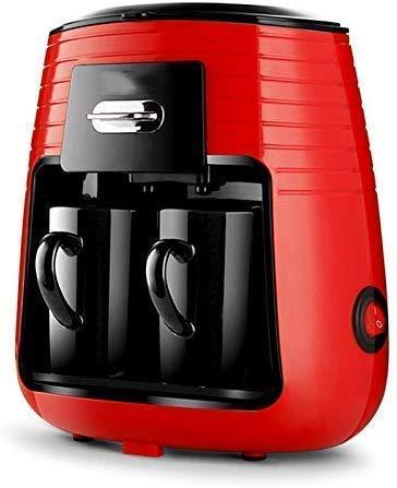 Busirsiz Kaffeemaschine, 450W 0,25 l Kaffeemaschine Teefilter Maschinensatz mit 2 Keramik-Becher Amerika Stil automatische Innenministerium elektrische Kaffeemaschine, for Home Office