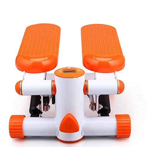 Low Noise Non-Slip Stepper, met hydraulische weerstand, LED Thuis Fitness loopband, met een maximale belasting van 150 kg, geschikt voor thuis oefening, Shaping, Orange
