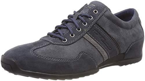 camel active Herren Space 24 Sneaker, Blau (Jeans/Dk.Grey 36), 43 EU