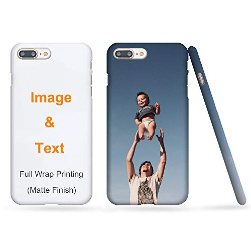 MXCUSTOM Custom Apple iPhone 8 Plus iPhone 7 Plus Case, Full Wrap Printing Slim Snap Case Matte Finish, Customised Personalised with Photo Image Text Design Make Your Own Phone Cases Cover (FWS-MT-P1)