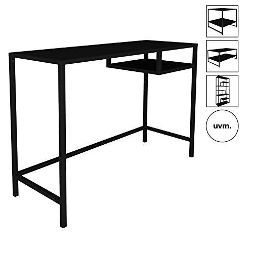 mokebo® Konsolentisch 'Der Produktive' in schwarz Metall, auch als kompakter Sekretär oder Kleiner Schreibtisch, B 100cm | H 74cm | T 36cm