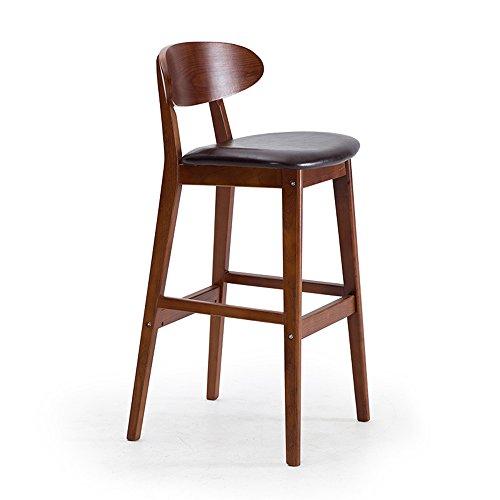 ch-AIR Stool Tabouret De Bar en Bois Massif Couleur PU Dossier Optionnel 44,5 * 48,5 * 99 Cm Solide Et Solide Tabouret Haut Cafe (Couleur : C)