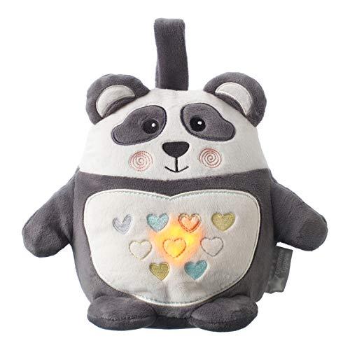 Tommee Tippee Grofriend, Wideraufladbare Einschlafhilfe für Babys, Spieluhr aus Plüsch, Berühigende Geräusche und Weißes Rauschen, CrySensor Technologie und Nachtlicht, Pip der Panda