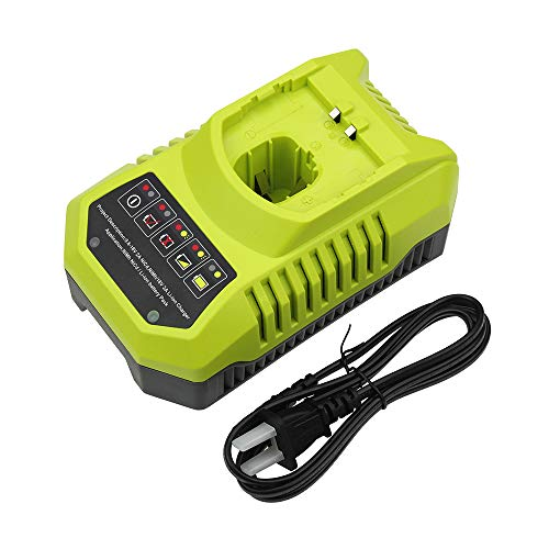 Eagglew Replacement for Ryobi 9.6V-18V Li-ion & Ni-cad Ni-Mh One+ Plus p117 Dual Chemistry Intelliport Battery Charger P100 P101 P102 P103 P105 P107 P113 P108 1400670
