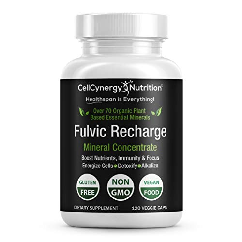 Fulvic Acid Trace Minerals - Hydration, Focus, and Electrolyte Keto Supplement 120ct. Veggie Capsules