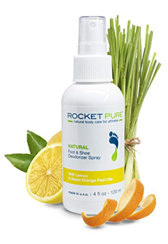 Natural Foot & Shoe Deodorizer Spray - for Feet, Shoes & Gym Gear | Odor Eliminator & Strong Smell Remover for Any Boot or Sneaker - Made with Powerful Essential Oils - Lemon