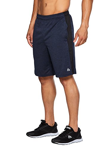 RBX Active Men's Workout Gym Athletic Running Workout Shorts Navy/Black S