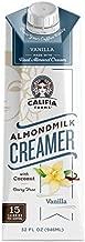 Califia Farms - Vanilla Almond Milk Coffee Creamer with Coconut Cream, 32 Oz (Pack of 6)   Dairy Free   Soy Free   Plant Based   Vegan   Non-GMO   Shelf Stable   Gluten Free