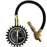 ATsafepro manómetro presión neumáticos,2 en 1 profesional desinflador de ruedas 4x4,Mandril...