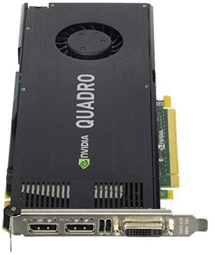 PNY VCQK4000-ESPPB Quadro K4000 3GB GDDR5 - Tarjeta gráfica (Quadro K4000, 3 GB, GDDR5, 192 bit, 3840 x 2160 Pixeles, PCI Express 2.0)