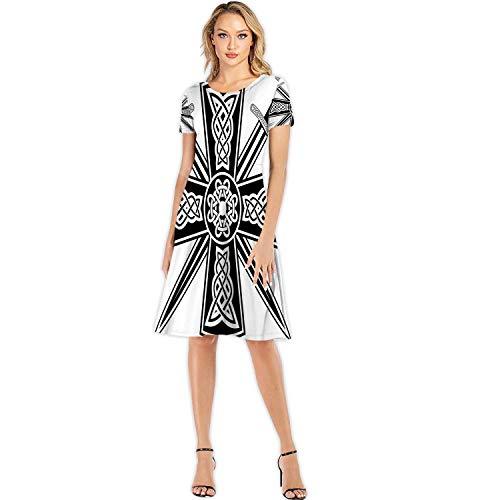 C COABALLA Celtic with The ed Swords,Woman Fashion Apparel Evening Dress S