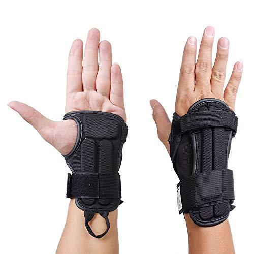 1Paar Handgelenksbandagen, Schutz beim Skifahren, Schutzausrüstungen, Sport, M, in Schwarz