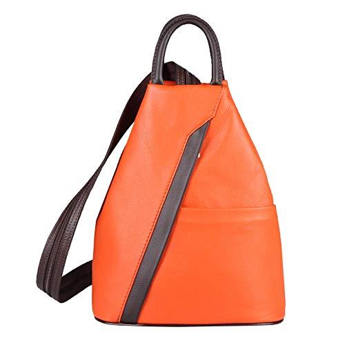 OBC Only-Beautiful-Couture, Borsa a zainetto donna Arancione Arancione -Marrone ca. 25x30x11 cm (BxHxT)