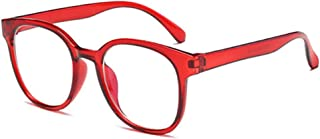 BOZEVON Glasses - Vintage Retro Big Frame Oversized Round Glasses Computer Gaming Glasses for Women and Men