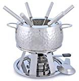 stainless steel fondue pot for oil fondue