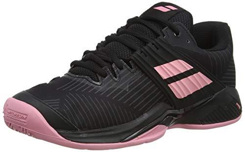 Babolat Damen Propulse Fury Clay Women Tennisschuhe, Black/Geranium Pink, 39 EU