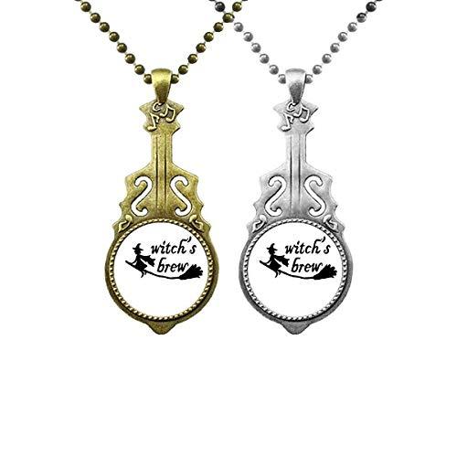 Halskettenanhänger mit englischem Zitat und Musik-Gitarre