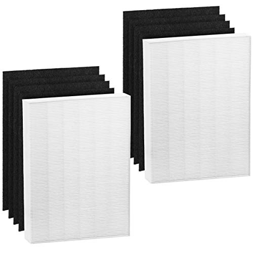Altec Filters 2 HEPA Premium Quality Replacement Filters Plus 8 Activated Carbon Prefilters Compatible for Winix PlasmaWave 115115 Air Purifier Size 21 Filter A 5300 6300 5300-2 6300-2 P300