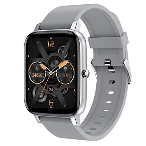 APCHY Smart Watch Reloj Inteligente,Monitores De Actividad con Temperatura Corporal 1.7 Pulgadas Pantalla Táctil Grande,Pulsera Bluetooth Pulsera De Monitor De Sueño De Frecuencia Cardíaca,C