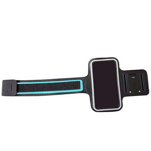 PENVEAT - Brazalete impermeable para correr, deporte, gimnasio, correr, brazo, funda para iPhone 6S Plus, 6, Plus, 7, 8 Plus, color negro
