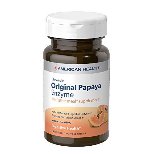 American Health Papaya Enzyme, Original Chewable 100 Tabs