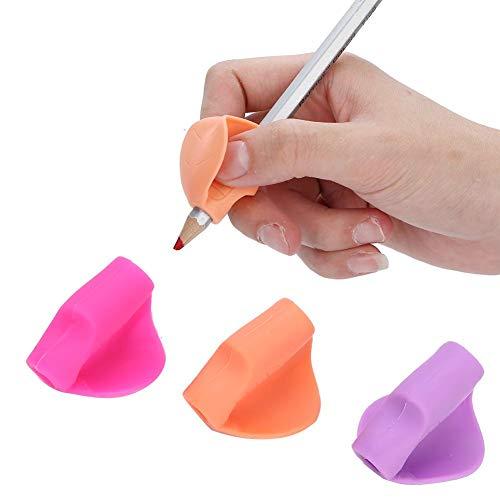 Empuñaduras de lápiz, Empuñaduras de escritura para niños Aprendizaje de corrección de la postura los niños Escritura de silicona Aprendizaje de la mano Agarre de corrección Herramienta escritur(1)
