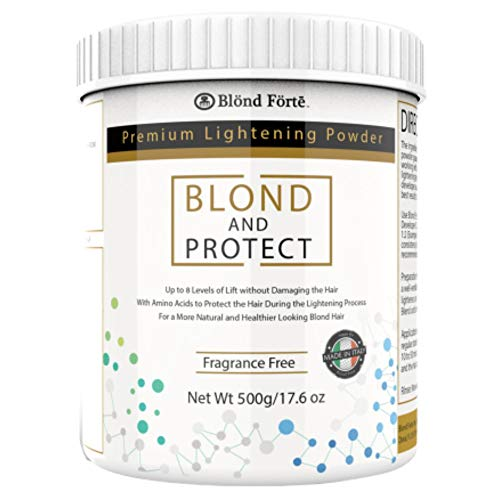 1.1 Lb/17.8 Oz Blond & Protect 8+ Level Hair Bleach/Lightener with Amino Acids – Made in Italy - - BLOND FORTE (Blue Powder)