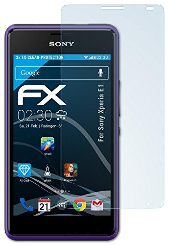 atFolix Schutzfolie kompatibel mit Sony Xperia E1 Folie, ultraklare FX Bildschirmschutzfolie (3X)