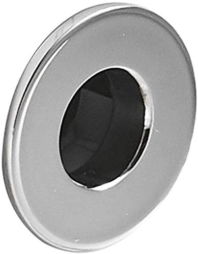 Greenspring Basin Sink Trim Overflow Cover Brass Insert In Hole Round Caps Chrome