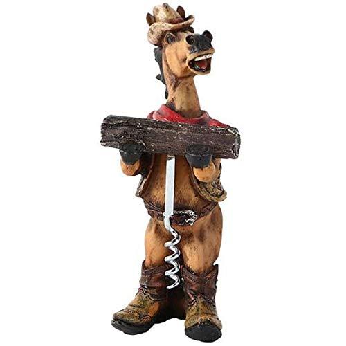 Creative Cowboy Sacacorchos, Individuality Vintage Horses Botella de Vino Abrebotellas para la decoración de la Barra de la Cocina para el hogar Hombres