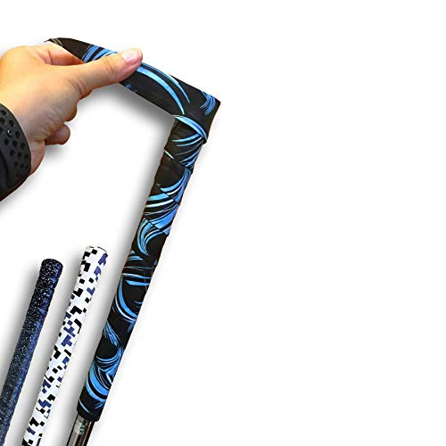 Alien Pros Golf Grip Wrapping Tapes (3-Pack) - Innovative Golf Club Grip Solution - Enjoy a Fresh New Grip Feel in Less Than 1 Minute (3-Pack, Blue Waves)