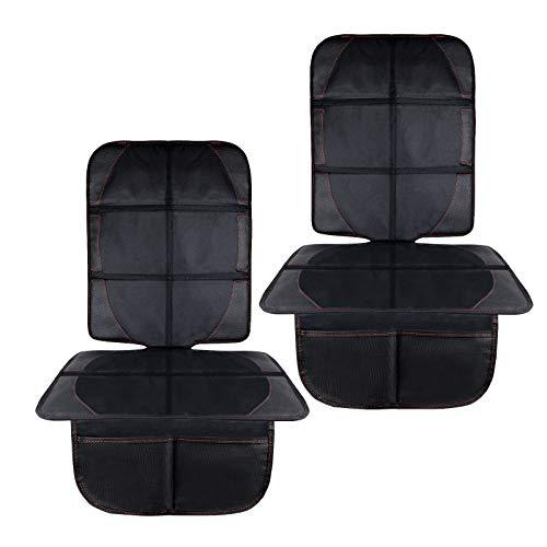 Autositzauflage, Kindersitzunterlage mit Schaumstoff Gepolsterte Sitzschoner Auto Kindersitz Anti-Rutsch-Anti-Kratz Flecken-Schutz-Organizer-Taschen, Autositzschoner Universalgröße,2PC