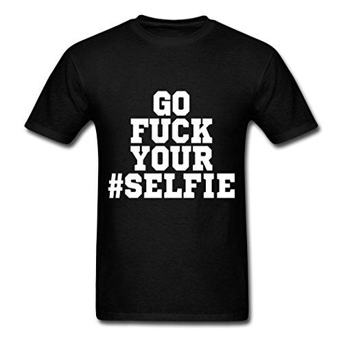 ZAKE Custom Printed Men's Go Fuck Your Selfie T-Shirts Black L