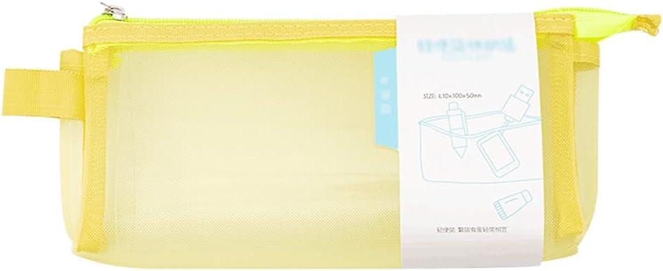Pencil case Mesh Zipper Case File Super sale period limited Los Angeles Mall T Organizer Bags