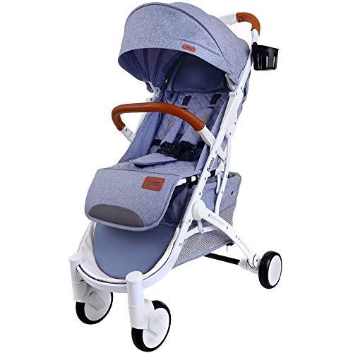 FJESSA Sky Comfort Leichter Kinderwagen, Kinderbuggy, Travel Buggy, Buggy Sportwagen, Sitzbuggy, Klappbar (Grau)
