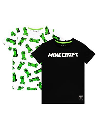 Minecraft Jungen T-Shirt Packung mit 2 Mehrfarbig 134