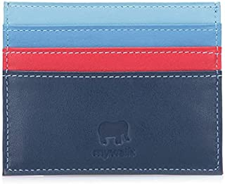 mywalit Men's Double Sided Credit Card Holder With Rfid Blue