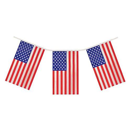 G2PLUS Flaggenkette Fahnenkette, 11M Wimpelkette mit 40 Amerika Fahnen Flaggen Perfekte Dekorationen für Bar, Party, Festival, Sportvereine