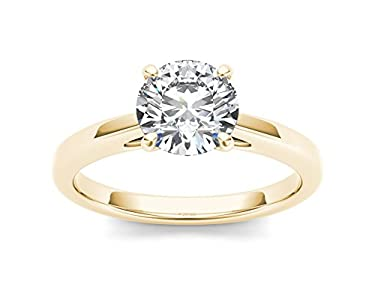 1 cttw Diamond Solitaire Engagement Ring 14k Gold (Color H-I, Clarity I2) for Women